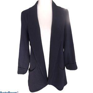 Daniel Rainn Navy Blue Long Blazer Jacket Sz M